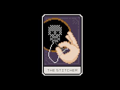 Cross Stitch Tarot Card pixel pixel art stitch skull card tarot cross stitch