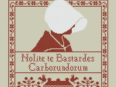 ✊️ The Handmaid's Tale Phone Wallpaper hulu embroidery cross stitch book handmaid wallpaper stitch pixel art pixel iphone download android