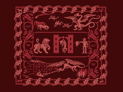 Game of Thrones Pixel Art Tapestry