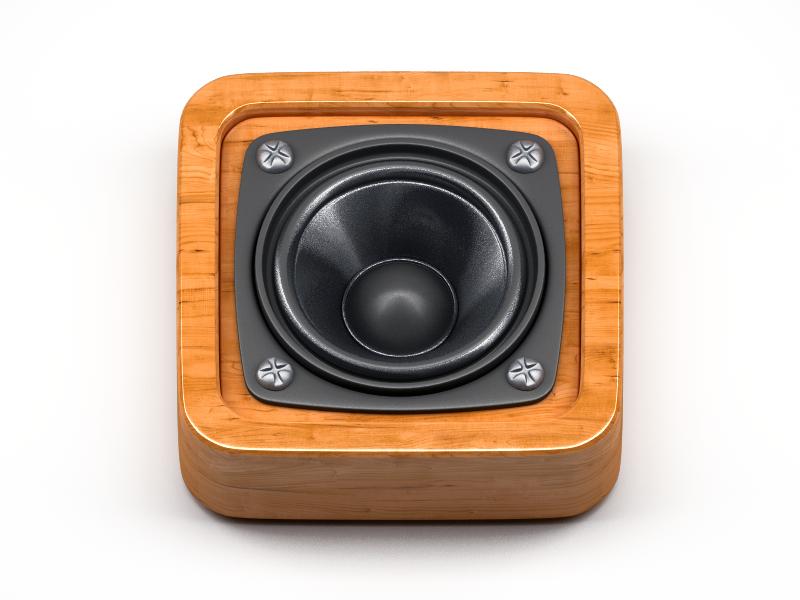 Speaker Icon 3d icon ios apple speaker wood realistic