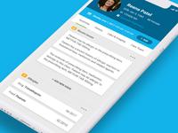 Wellzio eConsult healthcare native app ui ux