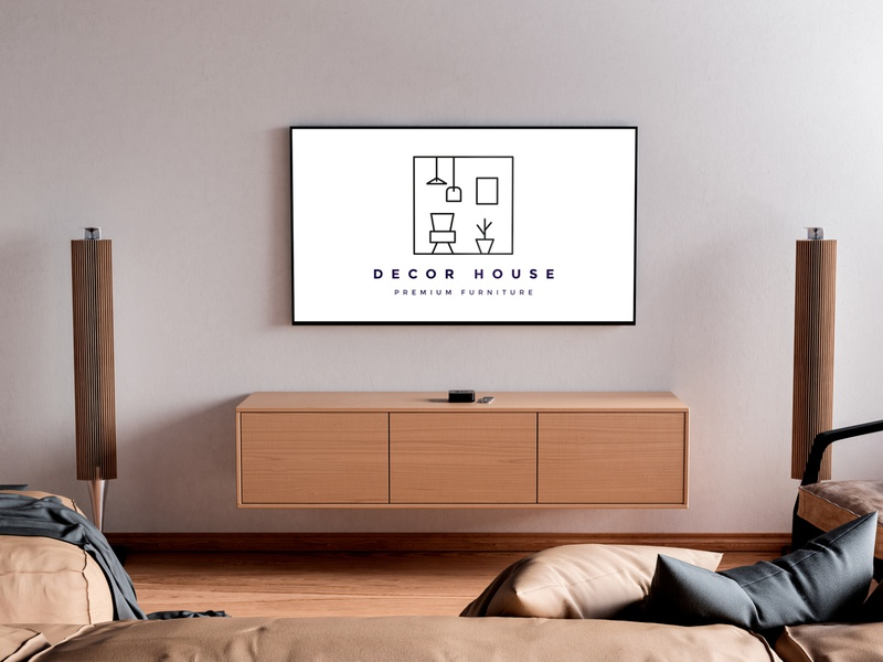 Decor House furniture premium house decor london uk identity brand logo branding designer europe creative dweet design design