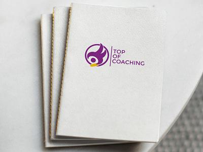 Top of Coaching toc coach top of coaching brand logo branding europe creative dweet design design