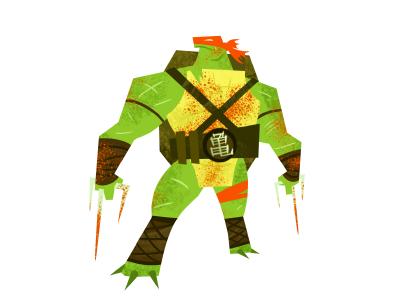 Raph art illustration cartoon sai raphael turtles ninja