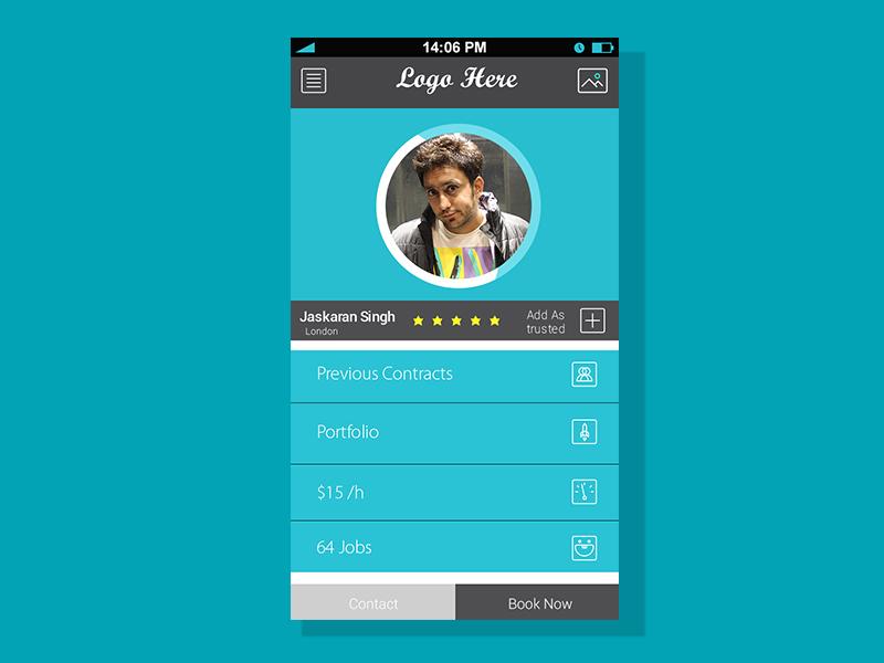 Profile Screen For Mobile App ( Free PSD ) freepsd freekits freestuff app freemobilescreen free iosscreen profile iphone ui fun
