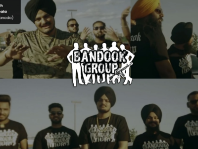 "Logo for Bandook Group ( Featured in Song "" So High "" by Sidhu )"