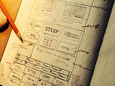 New Year, New Website web design sketch portfolio site