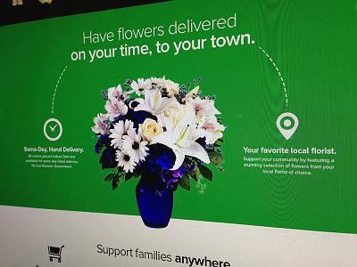 web comp, flowers section comp web design