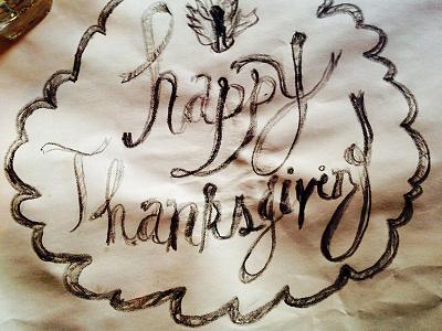 Happy Thanksgiving sketch doodle crayons