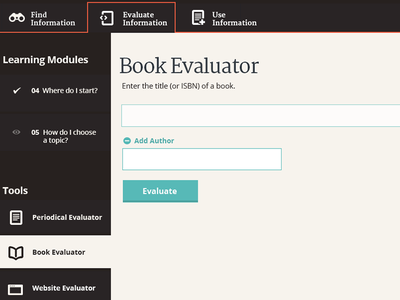 Input and Navigation comp web design