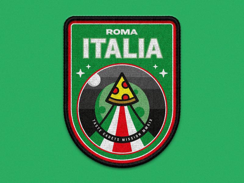 Taste Cadets: Roma Italia 2019 vector illustration vector art illustration illustrator mockup space patches patch design badge crest vector food patch