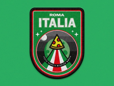 Taste Cadets: Roma Italia 2019 vector illustration vector art illustration illustrator mockup space patches patch design badge crest vector food patch