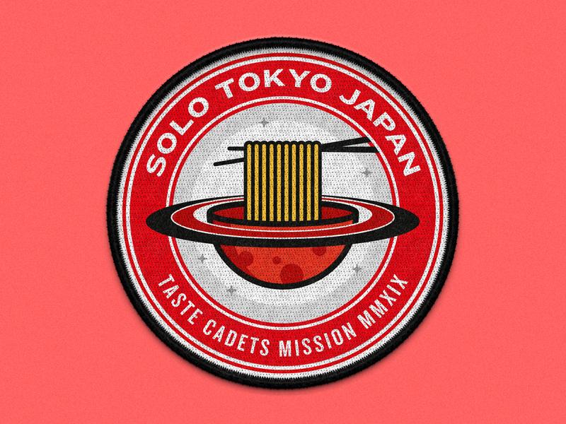 Taste Cadets: Tokyo Japan 2019 vector illustration vector art vector space patches patch design patch mockup illustrator illustration food crest badge