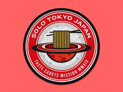 Taste Cadets: Tokyo Japan 2019 vector illustration vector art vector space patches patch design patch mockup illustrator illustration food crest badge