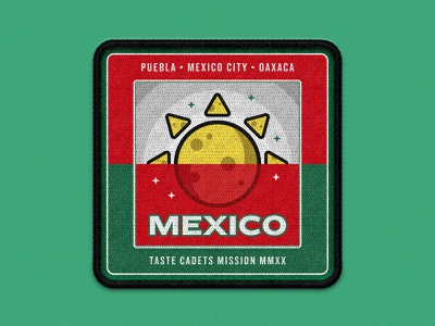 Taste Cadets: Mexico 2020 vector illustration vector art vector space patches patch design patch mockup illustrator illustration food crest badge