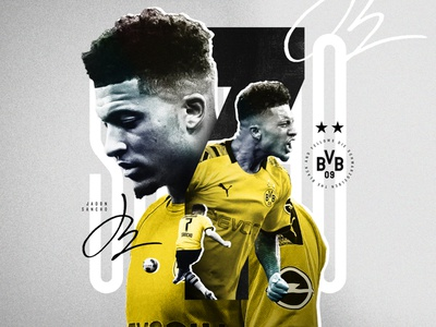Jadon Sancho Layout poster editorial football edit soccer edit art layout graphic design collage typography cutout texture photoshop soccer football