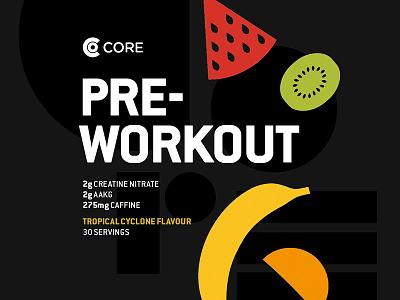 Pre-workout label concept minimal minimalist icons typography flat design flat simple print fruit label design