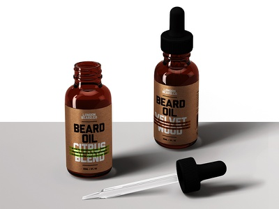 London Beard Company Redesign bottle product packaging typography mockup type logo beard graphics design brand