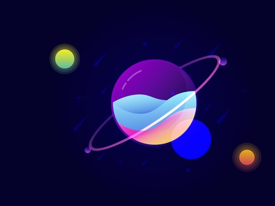 Bubble Planet (Learn From Another ) ui type flat animation design illustration