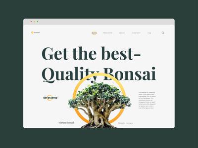 Bensai - Bonsai Store Landing Page