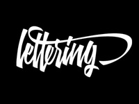 Hand drawn lettering for self promotion.