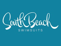 Hand lettering logo for swim wear company