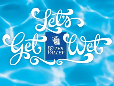 Hand drawn lettering for Water Valley ad campaign. hand lettering handlettering lettering hand drawn hand drawn lettering calligraphy advertising advertising lettering