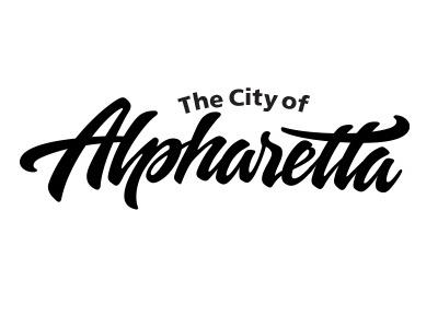 Logo for city of Alpharetta, Georgia hand lettering lettering hand drawn lettering logo hand lettered logo typography custom typography