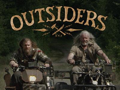 Lettering exploration for WGNA Outsiders tv show. brush lettering brush lettering tv title title hand lettering