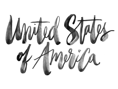 Liberty and justice for all. naive casual brush script script lettering brush