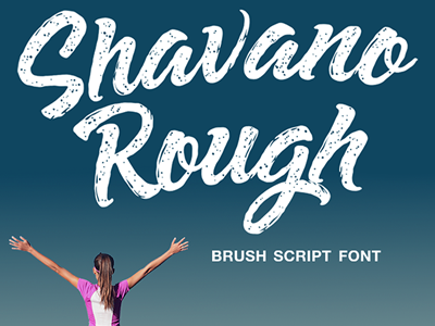 Rough and ready; Shavano! flowing bold organic lettering typography font