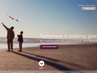 ARM Pensions Parallax Slider navigation parallax buttons clean one-page ui web