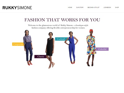 RukkySimone Fashion Website fashion rukkysimone womens fashion white minimalist website
