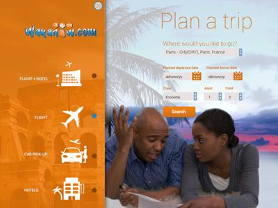 Wakanow.com Concept Design & Free PSD wakanow travel website website travel ui psd