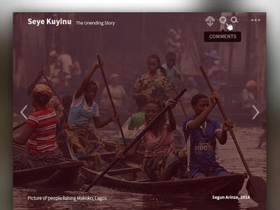 Albumarium v2 album gallery free images lagos nigeria seye kuyinu boat africa ui user interface design