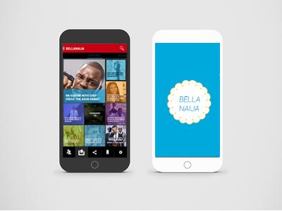 Bellanaija.com Concept Design android app ui bellanaija kwirkly