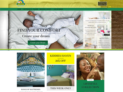 Mouka Website ecommerce user interface website web design