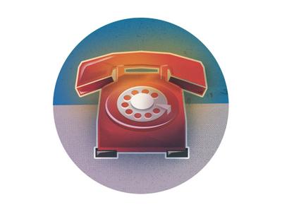 Icon Set (5 of 5) vectorillustration redphone phone texture vector illustration icon iconography