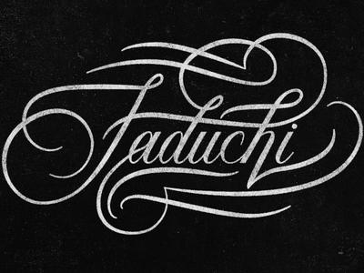 Faduchi Script flourish type vector handlettering script calligraphy lettering