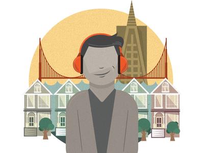 Animation Illustration adobeillustrator illustrator headphones sanfransisco vectorillustration vector illustration