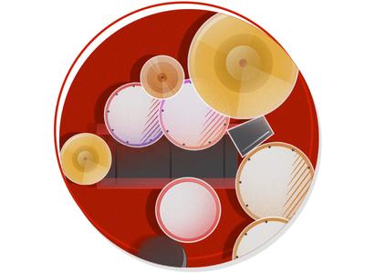 180 Drums Illustration cowbell vectorillustration vector illustration drums