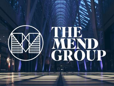 The Mend Group type wordmark logotype m logo