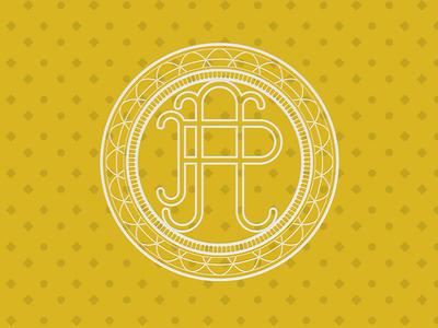 Astra Petamus Seal of Authenticity monoline vector lettering type monogram symbol icon