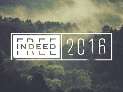 Free Indeed Logomark typography type conference logo logomark logo