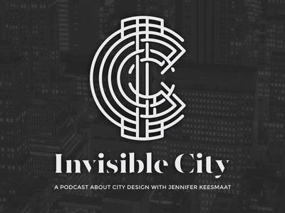 Invisible City Podcast logomark monogram lettering typography type podcast logo podcast logomark logo