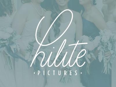 Hilite Pictures wordmark script monoline calligraphy lettering type wordmark logo