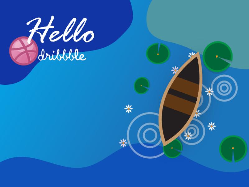 Hello Dribble. flat design first first shot adobe illustrator