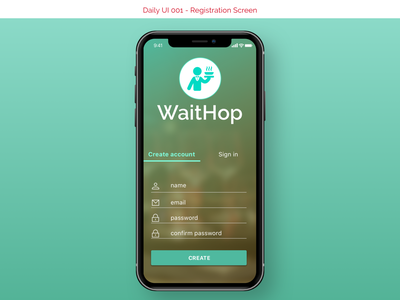 DailyUI #001 -  Sign Up daily 100 challenge
