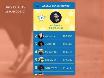 Daily UI #019 - Leaderboard 019 ui daily 100 challenge