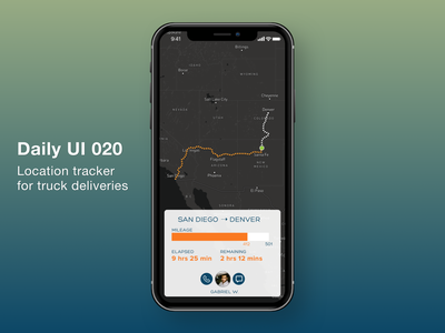 Daily UI #020 - Location Tracker ui 020 daily 100 challenge